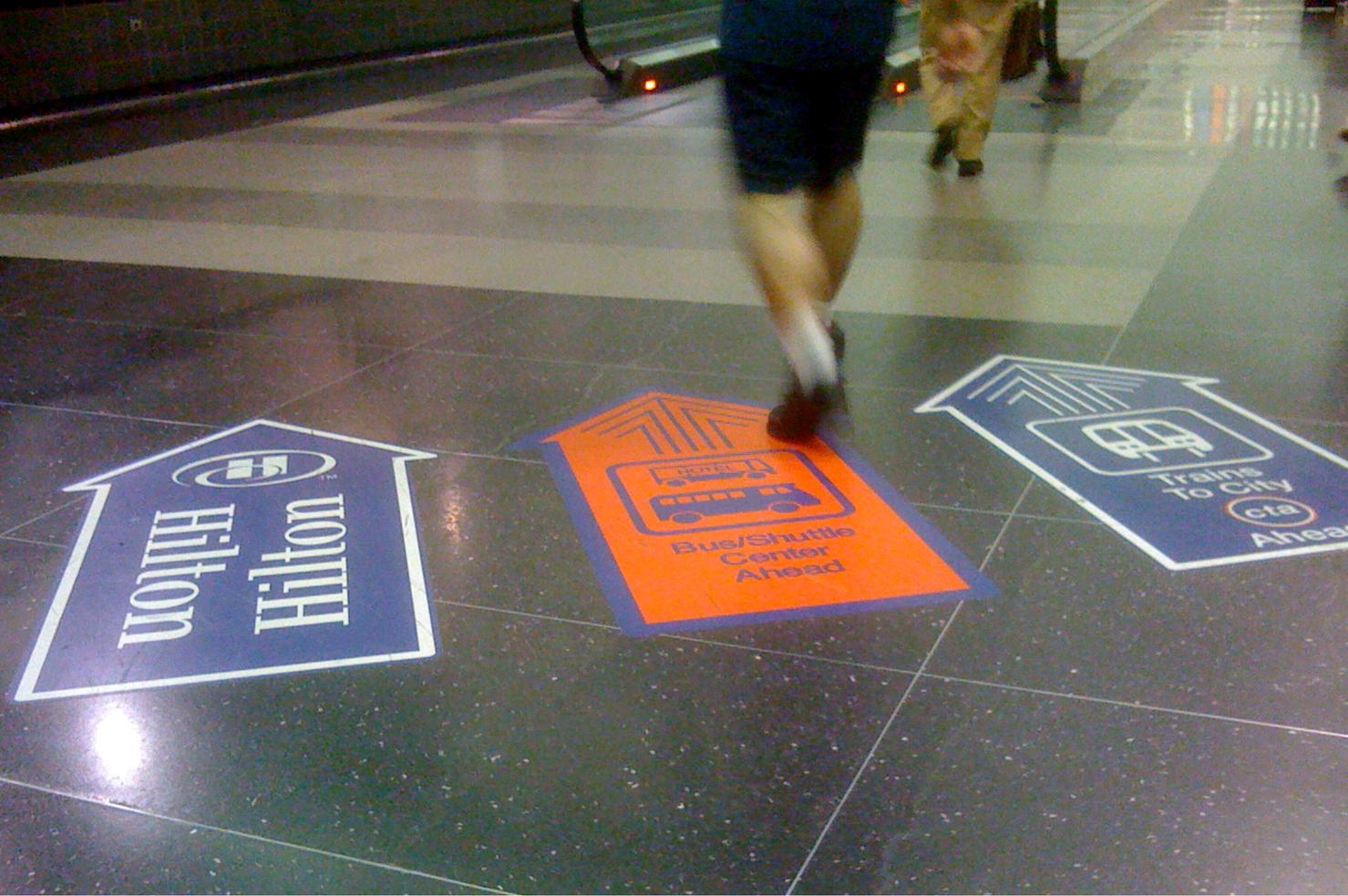 Wayfinding on the floor for On the floor on the floor