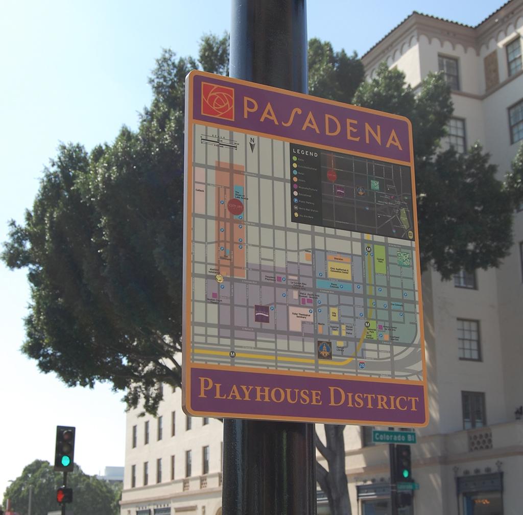 Pasadena Wayfinding Maps Installed Hunt Design